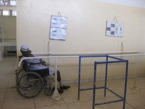 スーダンのリハビリ室