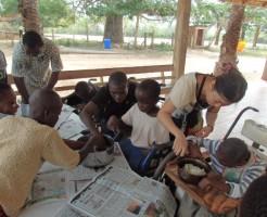 ガーナ活動の様子